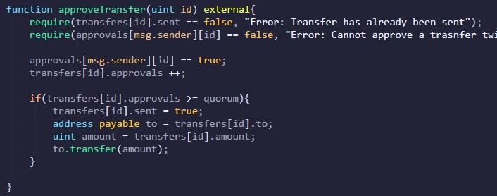 Approving transfer ethereum multisig